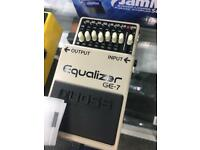 boss equalizer ge-7 guitar pedal