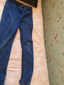 Girls jeans size 13-14
