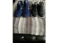 2 pairs of men's brand new trainers reps size 10 and 9 but the 9 is more like an 8