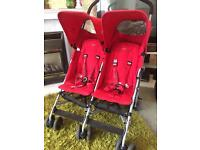 Maclaren twin triumph double pushchair pram buggy stroller