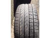 2 Pirelli Cinturato P7 Runflat Car Tyres (225/45/R18/91Y) - BMW Approved - used less than 1000 miles