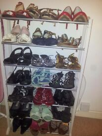 High heels size 7, 16 pairs heels all colours and in good used condition.