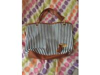 Blue & White Striped Bag