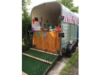 Beatifully converted Vintage Horse trailer/catering trailer/champaign/cocktail bar/coffee