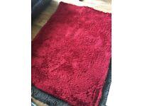 Medium Size Red Shaggy Rug