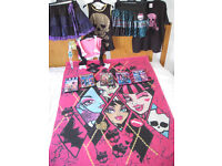 Monster High Bundle - Laguna Doll,Dress Up Clothes, 5 DVD's & Rug