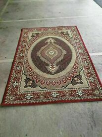 very large Red Hand Carved Carpets For Living Room Thick Polypropylene excellent conditon