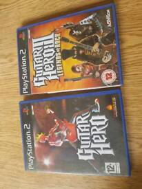 Ps2 Guitar hero 1 and 2