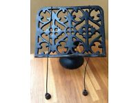 Antique Old Cast Iron Cookery Book Stand