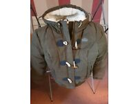 Superdry green toggle puffa coat, medium great cond.