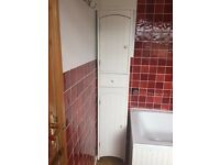 White free standing bathroom cupboard (see photos)