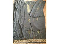 Pakistani Indian winter pashmina suit with shawl
