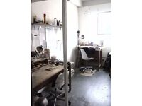 SPACE STUDIO WORKSHOP FOR SHARE IN DALSTON LANE, HACKNEY, £246 PER MONTH.