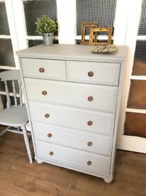 Tallboy/Chest Free Delivery Ldn Shabby Chic CHEST of 6 drawers
