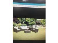 Rattan garden furniture 6 peice set