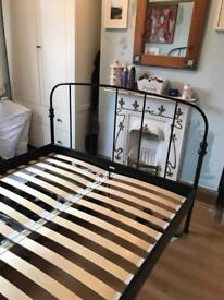 IKEA metal framed double bed