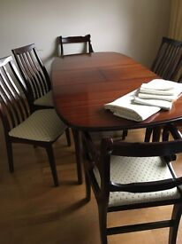 Mahogony table and chairs