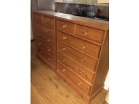 2 x Pine Chest of Drawers - Cricklewood Collection only