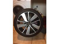 Clio alloy wheel and tyre