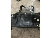 John Rocha Black leather handbag