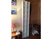 Used white IKEA CD / DVD towers, great condition. £10 each or both for £15. H 202 / D 17 / W 20cms