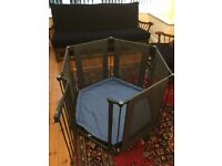 Lindam playpen and base - six sided with safety gate (RRP £100!)