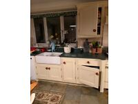 Kitchen units including base level cupboard and drawers and eye level cupboards. for sale  Bury St Edmunds, Suffolk