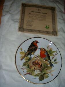 SET OF 8 EUROPEAN SONGBIRD PLATES WORLD WILDLIFE FUND (GERMAN) London Ontario image 5