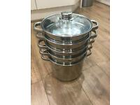 Viners pan set including egg poacher good quality