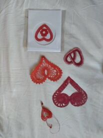 Hand embroidered hearts