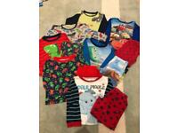 Selection of boys pj's, size 1.5-2 years