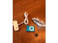 IPOD SHUFFLE - AQUA BLUE - with NEW GENUINE APPLE EARPHONES