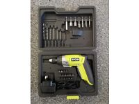 Ryobi CSD4130GN Li-Ion ELECTRIC SCREWDRIVER / DRILL with HARDCASE and Accessory Set