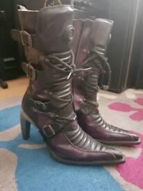New rock high heel boots size 6