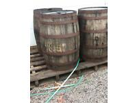 Oak whiskey barrels £50 & planters for £28