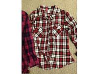 Girls check shirts
