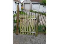 Wooden Garden Gate with Posts