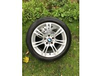 Genuine BMW alloy wheels with tyres 18 inch