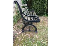 Garden Bench with Victorian cast iron ends