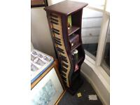 Retro piano keyboard CD stand Bookcase Shelving Unit Storage funky