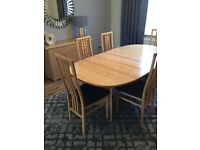 Beech dining set and sideboard -REDUCED PRICE