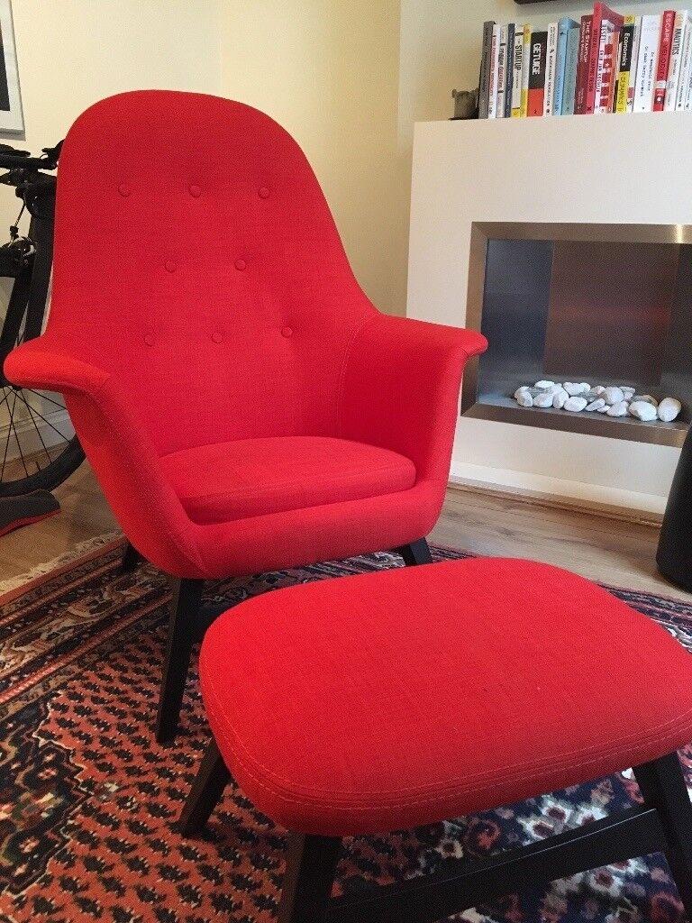 Ikea Benarp Armchair And Foot Stool In Gravesend Kent
