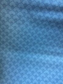 wallpaper rolls x 6, blue pattern wallpaper.