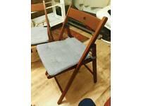IKEA folding chair x2 including cushion