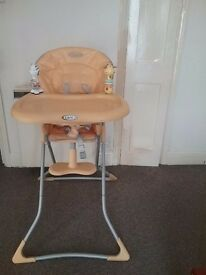 Graco Baby Feeding High Chair Seat Foldable Child Infant