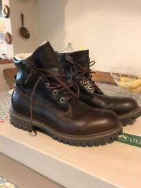 Brown leather Timberland boots 6.5 men's women's