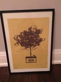 Dephect Art print with frame No.12/30 Signed