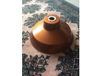 Copper coloured pendulum metal light shade