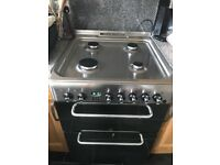 Indesit dual fuel cooker - less than a year old