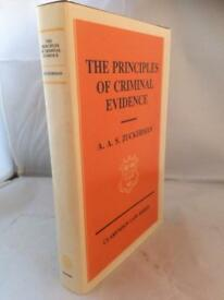 The principles of criminal evidence - A.A.S. Zuckerman, 1st edition, initialled by author